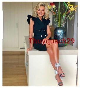 Zara ruffled waistcoat dress (7677)